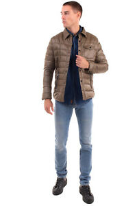 RRP€240 CALVIN KLEIN COLLECTION Down Quilted Jacket Size L Popper Front Collared