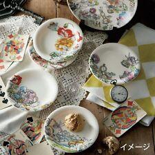 Disney Alice in Wonderland Plates Dish Set Pottery Porcelain Kitchen gift F/S