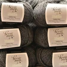 Nettle & Organic Aran Hand Knit Wool ~ Bessie May NETTLE in Grey of 'Ash'