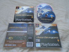 Chase the Express PS1 (COMPLETE) black label action Sony PlayStation rare
