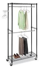 Supreme Double Rod Garment Rack, Storage, Organize,Hanger,Wheel,Clo set, Garment