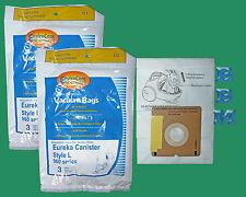 6 Type L Eureka 61715A 960A 965 Allergy Vacuum Cleaner Bags Mini Mite 960 Series