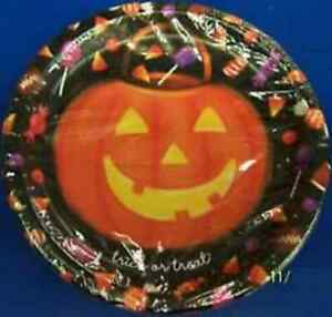 """Happy Candy Eating Haunted House Carnival Halloween Party 9"""" Dinner Plates"""