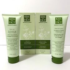 Kiss my Face Potent & Pure 'Exfoliating Face Wash' 'Creamy Face Cleanser' Set