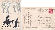"""# SILHOUETTES - 1936  DELLA SACRA FAMIGLIA siglata """"MS""""  frase di L. NASON"""