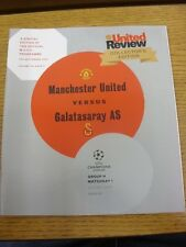 19/09/2012 Manchester United v Galatasaray [Champions League] . Thanks for viewi