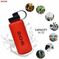1 L Water Bottle, Plastic Tritan Water Bottles with Wide Mouth, 34oz Large BPA