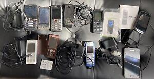 Lot De 10 Téléphones Mobiles Nokia Samsung Sony