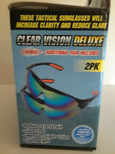 Clear Vision Deluxe Tactical Sport Polarized Sunglasses 2PK Free Shipping!