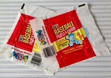 1983 DONRUSS BASEBALL WAX PACK WRAPPER LOT OF TWO 2