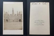 France, Paris, hôtel de ville Vintage albumen print CDV.  Tirage albuminé  6