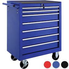 Chariot d'atelier 7 tiroirs à boîte outils caisse à roulettes garage servantes