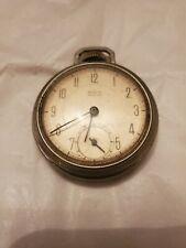 Pocket Watch Usa Made Vintage Westclox Mechanical Wind Up