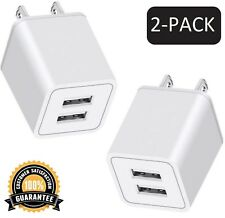 AZEO USB Wall Charger, 10W 2-Pack 2.4A/5V USB Plug Dual Port Power Adapter Ch...