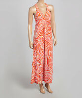 Jon and Anna Womens Floral Paisley Long Geo V-neck Maxi Dress
