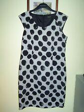 ❤ PRECIS Petite Size 14 Ivory & Black Dress Lined Back Zip