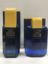 Antonio Puig Aqua Quorum Eau de Toilette 50ml Spray + After Shave 50ml *NEW*