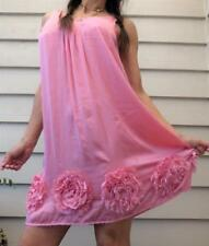PETER ALEXANDER SILKY PINK FLORAL slip NIGHTIE dress XS 8 BUY 3+ ITEM= FREE POST