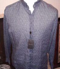 $695 GIORGIO ARMANI black label linen dress casual shirt Italy  40 15 3/4