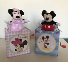 Lot Of 2 Minnie Mouse Mickey Mouse Jack-in-the-Boxes Disney 2014