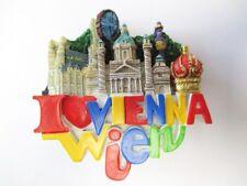 Wien Vienna Magnet Kaiserkrone Stephansdom Prater Poly Souvenir Austria