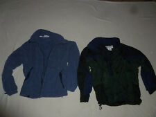 COLUMBIA FIRE RIDGE JACKET 2 COAT SET SKI FLEECE HOOD MENS LG BLACK GREEN BLUE >
