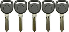 5 NEW UNCUT CADILLAC CHEVY BUICK TRANSPONDER CHIP IGNITION KEY B111-PT