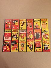 ULTRA RARE 2 KNOWN SETS 1938 HOBBY ICE CREAM LID BIG LITTLE PENNY BOOK PREMIUM