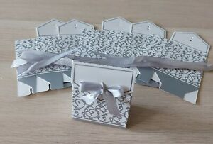 6 Silver boxes  Wedding, Christmas, Christening, Gift Favour Box With Ribbon  💞