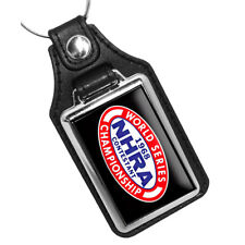 1968 NHRA Contestant World Series Championship Design Faux Leather Key Ring