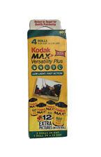 Kodak Max Versatility Plus 800 35mm Color Print Film 4 Rolls New Expired 03/2006