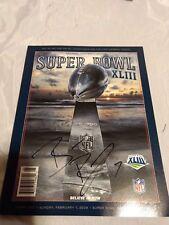 Super Bowl XLIII Program Hand-Signed Pittsburgh Steelers Ben Roethlisberger