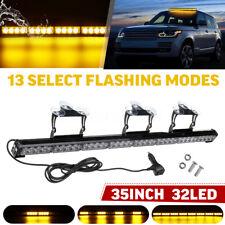 35'' 32 LED Car Emergency Warning Flash Strobe Light Bar Traffic Advisor Light