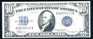 1934B $10 SILVER CERTIFICATE-FR 1703-2nd RAREST 10 SC AFTER 1933