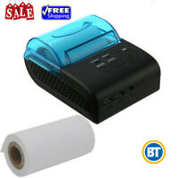 Mini Wireless BT Thermal Label Barcode POS Printer 58mm Android 4.0 1500mAh
