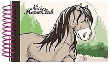 NICI 36909 Horse Club Spiralbuch Pferd Graubeige Din A6 Ringbuch