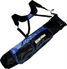 "LONGRIDGE 5"" LIGHTWEIGHT DUAL STRAP PENCIL BAG - BLACK/BLUE"