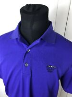 Mens Footjoy Large Golf Shirt Purple Sleeve Logo Short Sleeve Polo