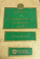 CRC Handbook of Mathematical Sciences Hardcover H. Beyer William
