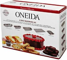 Oneida 6 Piece Bakeware Set Premium Round Loaf Cake Muffin Pan Cookie Sheet