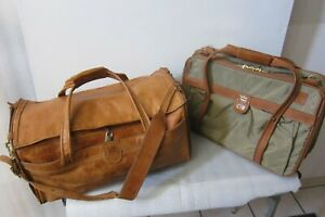 Vintage Hartmann Leather Duffle Bag and Triple Gusset Belting Leather and Nylon