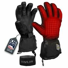 Ravean Heated Ski Gloves  Mittens - 7.4v Rechargeable Battery, unisex, size 9