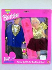 NIB BARBIE DOLL FASHION 1995 GREAT DATE FUN FANCY OUTFITS FOR BARBIE AND KEN