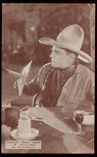 "1923 WM FOX PRODUCTIONS * CHARLES ""BUCK"" JONES * SILENT MOVIE STAR POSTCARD PC15"
