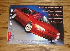 Original 1997 1998 Toyota Camry TRD Package Sales Card Sheet Brochure 97 98