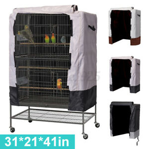 """Bird Cage Cover Universal Parrot Cage Protector Cloth Cover Cozy Bed 31""""x21""""x41"""""""
