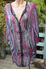 TS Taking Shape AS NEW Pink/Black Stripe Sheer Long Jacket Size 18. 3/4 Sleeve