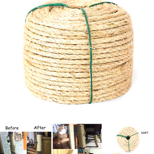 Yangbaga Cat Scratching Post Replacement, Sisal Rope for Cats, 1/4 inch Diame...