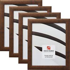 "Craig Frames 1"" Contemporary Rustic Copper Picture Frame, Set of 4 Frames"