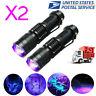 2PCS UV Flashlight Ultra Violet 365/395nm LED Torch Blacklight Inspection Lamp